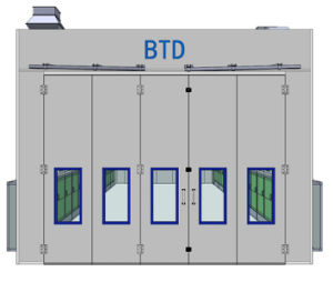 German Design Industrial Spray Booth Bus Painting Booth pictures & photos