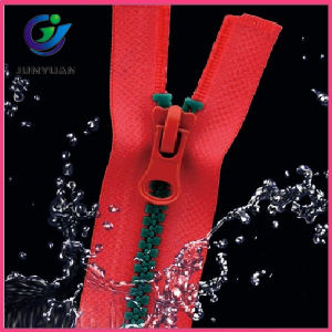 Plastic Zipper with Waterproof Material