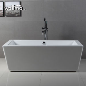 Rectangular Freestanding White Acrylic Bathtub with High Quality pictures & photos
