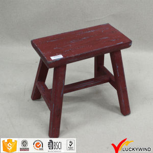 Distressed Antique Wooden Small Rectangle Stool pictures & photos