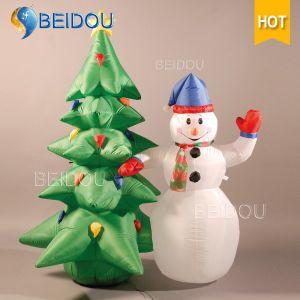Inflatable Christmas Decorations.Human Snow Globe Christmas Ornaments Snowman Tree Inflatable Christmas Decorations