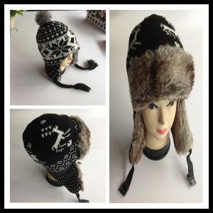 f5f82a3271996 China New Fashion 100% Acrylic Custom Winter Earflap Knitted Beanie ...