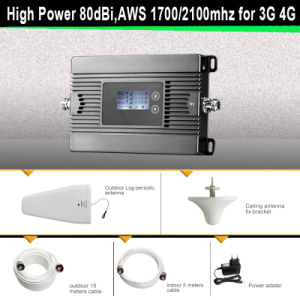 85dBi, Awsmhz Mobile Signal Booster 3G 4G Cell Phone Signal Power Amplifier pictures & photos