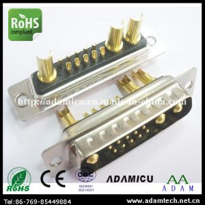 D-SUB 13W3 Solder Power Connector