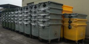 1100L PE Wheeled Trash Can Large Capacity pictures & photos