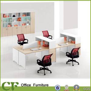 CF Melamine Wooden Furniture Office Modular 4 Seats Workstation Table