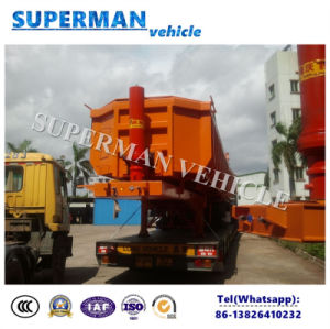 2 Axle U Shape Tipping Semi Trailer/ Tipper for Stone or Sand pictures & photos