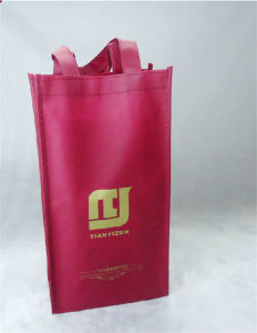 Non Woven Wine Bottle Packaging Gift Bag (MECO484) pictures & photos