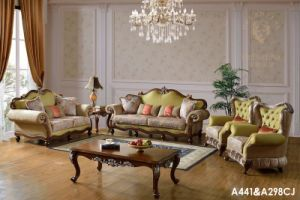 French Baroque Living Room Sofa Set