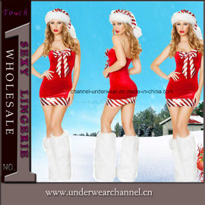 Wholesale Santa Party Stage Dress Christmas Carnival Costume (TDD80761) pictures & photos