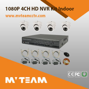 P2p NVR Kit 4PCS 720p IP Camera and NVR Night Vision Security Surveillance System 4 Channel Kit for Home Factory Supermarket Use pictures & photos