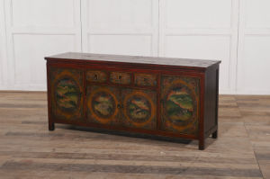 Specially and Soft Colors Cabinet Antique Furniture with Drawers