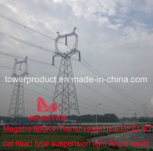 Megatro 500kv Transmission Line Dfzj 10° Cat Head Type Suspension Light Angle Tower pictures & photos