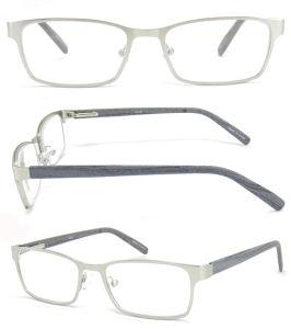 New PC Wood Pattern Temple Metal Reading Glasses Metal Spring Hinge Reading Eyewear Reading Frames Reading Spectacle Reading Glasses Frames