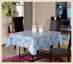 PVC Printed Tablecloth with Nonwoven Backing pictures & photos