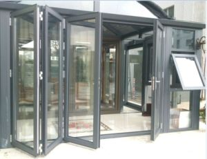Low E Glass Aluminium Folding Doors for Shopfront, Commercial Doors (CL-D2022) pictures & photos