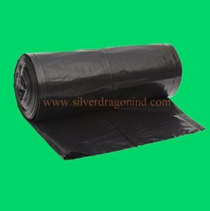 Custom Star-Sealed LDPE Black Plastic Garbage Bag pictures & photos
