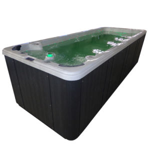 Balboa System Portable Rectangular Fiberglass Swimming Pool with Massage SPA Jets Jy8602 pictures & photos