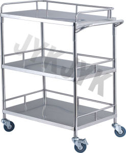 ABS Treatment Trolley with Three Shelves for Medical pictures & photos