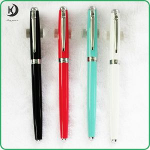 2016 New Type High Quality Metal Fountain Pen Metal Roller Pen Gift Promotional Fountain Pens in Different Colours