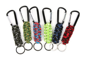 Colorful Hiking Paracord Keychain