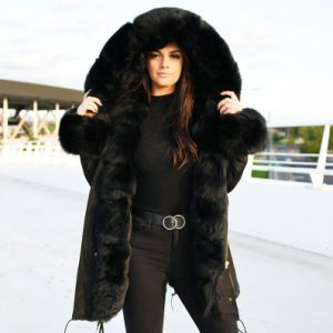 Womens Parka With Large Fur Hood