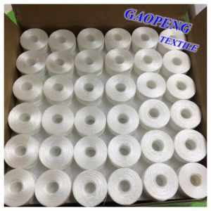 100% Polyester White Pre-Wound Bobbins Thread for Sewing 75D pictures & photos