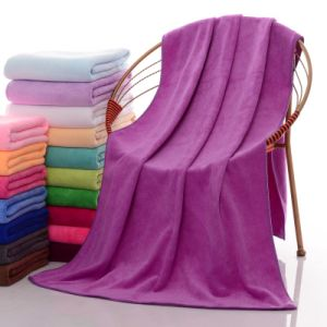 Soft and High Absorbent Microfibre Bath Towel pictures & photos