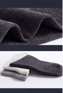 Men′s Anti-Bacterial and Anti-Odour Silver Fiber Socks pictures & photos