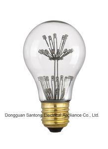 Factory Direct Sales Decorated A19 LED Starry Lbulb Energy Saving