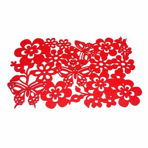 3mm & 5mm Spring Season Polyester Placemat for Tabletop and Holiday Decorations