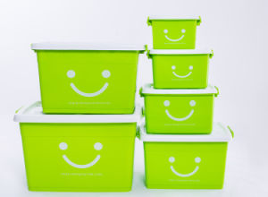 Heavy Duty Strong Impact of 65L Plastic Storage Box with Handles Lids and Wheels for Household Products pictures & photos