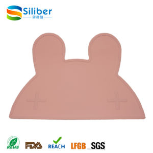Popular Food Grade Rabbit Shaped Silicone Baby Placemat