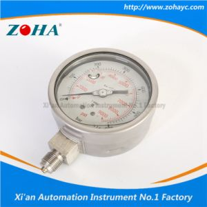 Double Scale Dial Stainless Steel Manometer Filled Oil pictures & photos