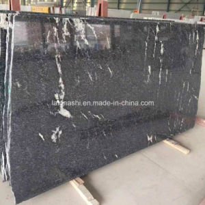 Water Jet Granite Snow Grey Mist Black Slabs for Countertop, Vanity Top pictures & photos