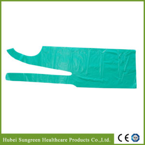 Disposable PE Apron in Green Color pictures & photos