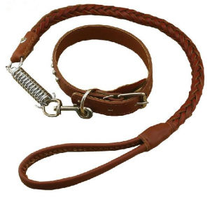 Pet Dog PU Leather Collar & Leash (lsh2013)