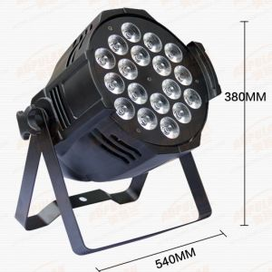 Party Disco DJ Stage Light Mini Gobo Projector Cheaper High Brightness 18X15W 5in1 RGBWA Slim LED Flat PAR Light Stage Lighting