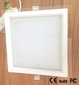 12W Square Glass LED Panel Light with Beautiful Design