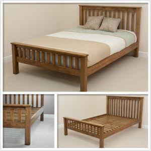 China Antique Solid Oak Bedroom Furniture Set Wooden ...