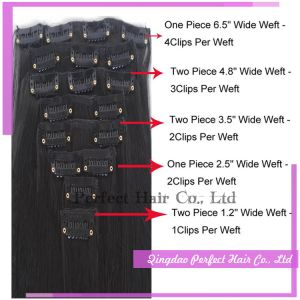 100% Virgin Hair Extension Clip Indian Hair Weave pictures & photos