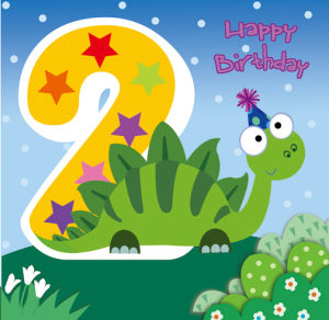 China 2 Years Birthday Age Greeting Cards