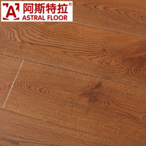 China 12mm Wood Grain U Groove Laminate Flooring With Wax And