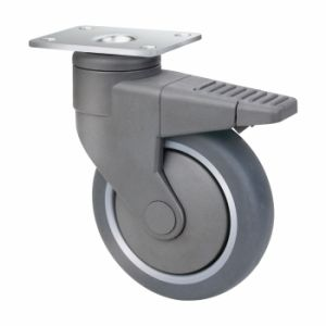 Medical Zinc Plated Swivel Caster with Total Brake