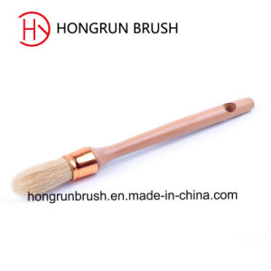 Wooden Handle Round Bristle Brush (HYR003) pictures & photos