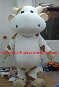 Adult Dairy Cattle Cow Mascot Costume