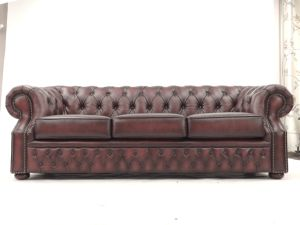 Tribecca Home Chesterfield Tufted Scroll Arm Sofa pictures & photos