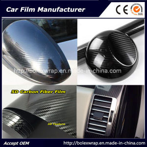 Hot Sell! ! ! High Glossy Black 3D Texture 5D Carbon Fiber Car Wrap Film pictures & photos
