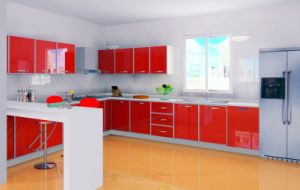 New Model Kitchen Cabinet with High Glossy Doors