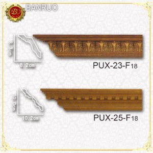 Decorative Polyurethane Cornice Molding (PUX23-F18, PUX25-F18) pictures & photos